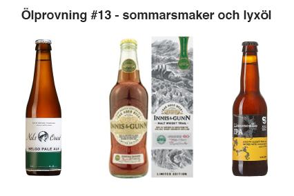 Dryckesprovning #13 – sommarsmaker och lyxöl